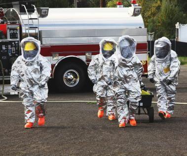 protective hazmat suits