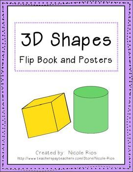 This ready-made, easy-to-assemble, 3D shapes flip book covers sphere, cylinder, cone, pyramid, cube, and rectangular prism.  It also presents illustrated examples, and definitions, for important vocabulary terms such as vertices, edges, and faces. (See a video with flip book assembly instructions in this blog post HERE )  This book will have your students circling vertices, highlighting edges, and counting faces.