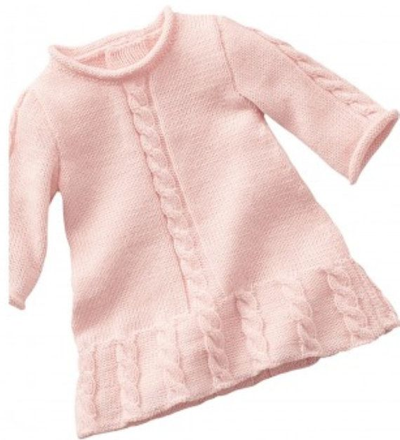 idea for knitted baby dress