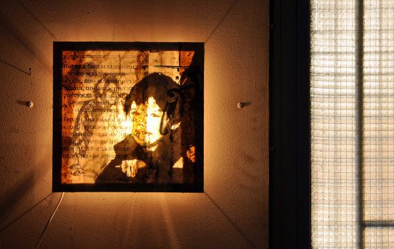 Medium Custom Portrait in mixed media with light by willemartina, $270.00