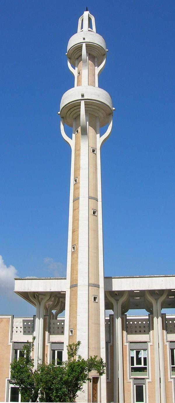 The minaret of La Moschea di Roma (The Mosque of Rome)