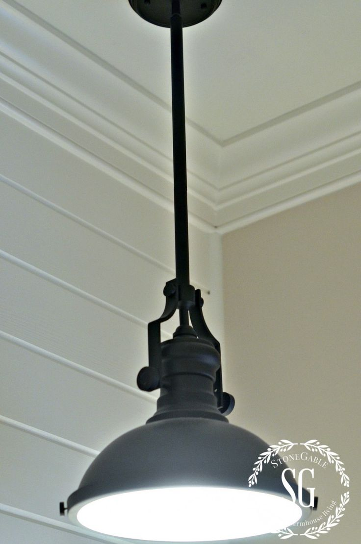 FARMHOUSE POWDER ROOM REVEAL-industrial lamp-stonegableblog.com