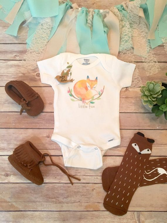 Little Fox Onesie®, Baby Shower Gift, Boho Baby Clothes, Baby Girl Clothes, Fox Baby Romper, Hippie Baby, Cute Baby Onesies, Baby Girl Gift
