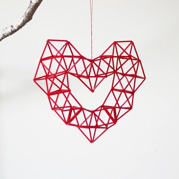 red heart himmeli
