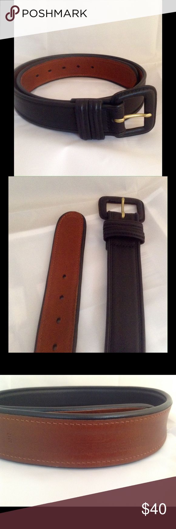 COACH BLACK LEATHER BELT Authentic black leather coach belt, # 8517, hand crafted in turkey of glove-tanned cowhide. Coach Accessories Belts
