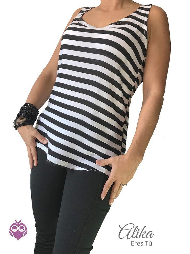 Camisa rayas, para lucir con leggins