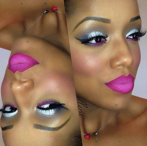 Wow Barbie! Eye Makeup - for brown skin girls *black women beauty tips*
