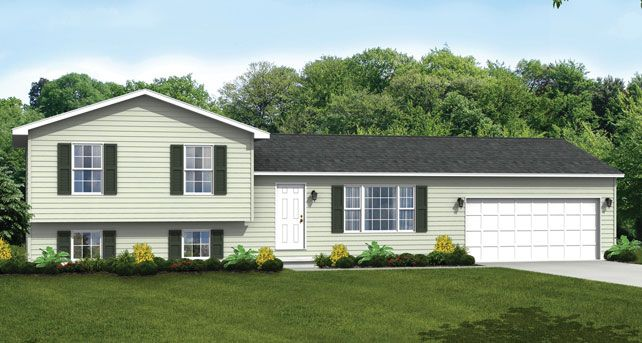 Custom Home Floor Plans: The Brighton Split-Level