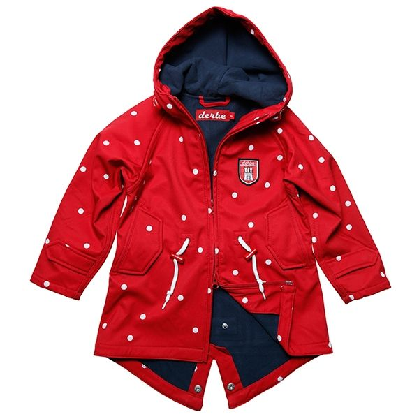 Derbe Kinder Jacke Ltten Dots Island Red Navy