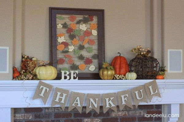 Be Thankful Thanksgiving Mantel & Gratitude Frame - Landee See Landee Do