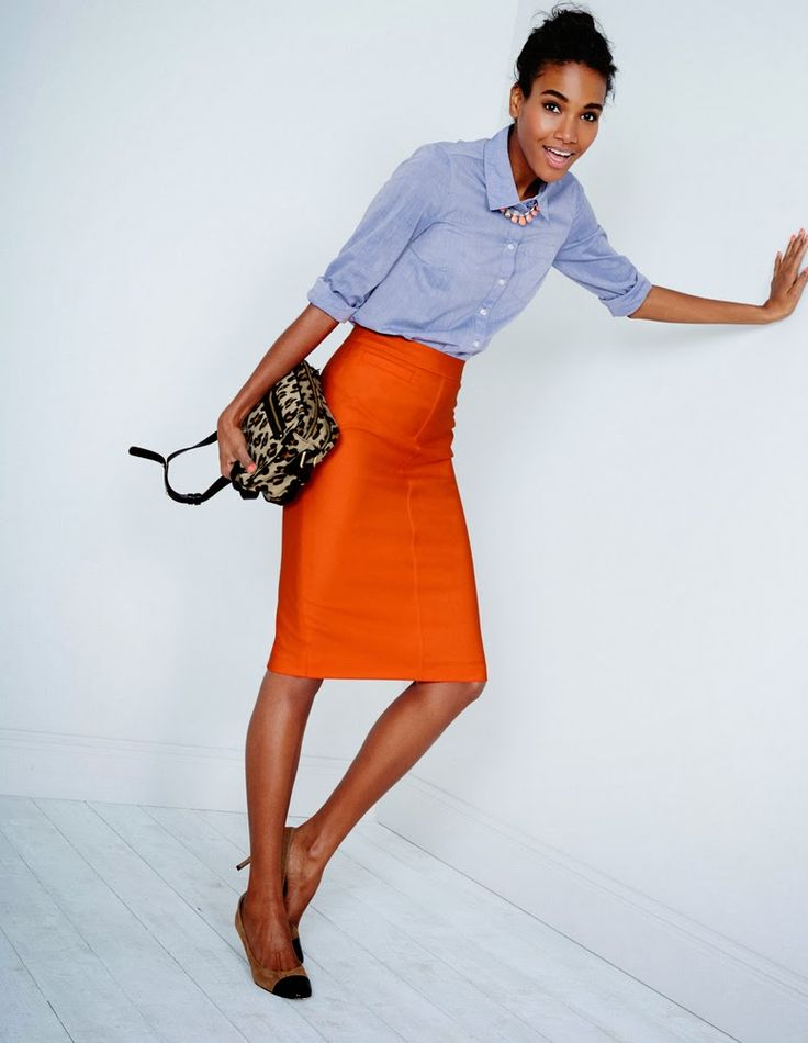 Really like this look - bold colors & prints with simple shirt - Arlenis Sosa Pena for Boden 2014