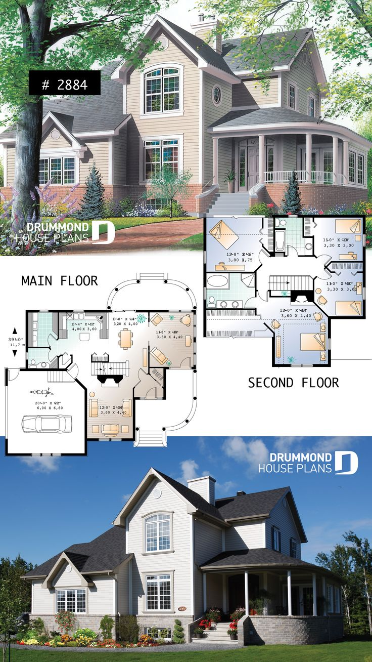 Beautiful 4 bedroom country style house plan, mast…
