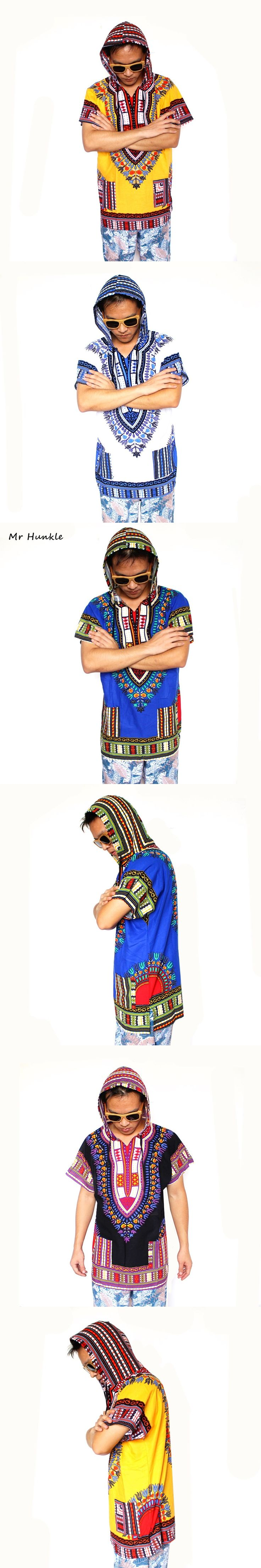 Mr Hunkle 2017 New Fashion Design Traditional African Clothing Print 100% Cotton Dashiki Hoodies women men Dashiki Hoodies