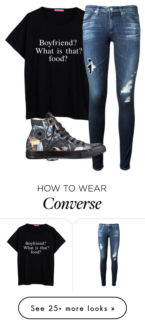 """BFF"" by clea69 on Polyvore featuring AG Adriano Goldschmied and Converse"