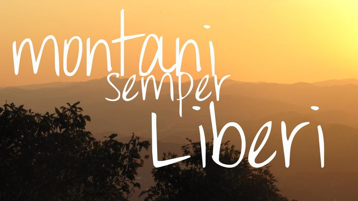 'Montani Semper Liberi' -  Mountaineers are always free - West Virginia State Motto
