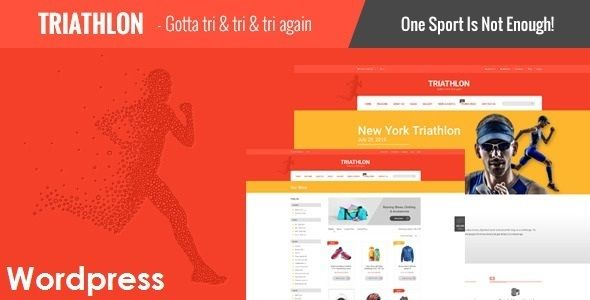 Triathlon is a creative WordPress template especially made for triathlon websites, gym, fitness centers, sports websites etc. It also includes 2 pre-designed home pages (Triathlon and Fitness) and shop and event pages.  http://themeforest.net/item/triathlon-responsive-wordpress-template/12953772?s_phrase=Triathlon&s_rank=1?ref-jyostna