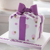Birthday present cake / 30th birthday cake for a woman