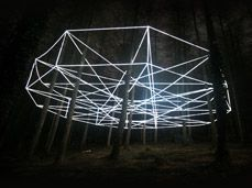Nathaniel Rackowe's Surelight EL Wire design in the Forest of Dean