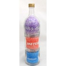 3 delige fles met badzout wil je mijn meter worden