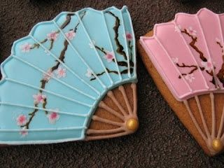 Japanese Decorated Cookies | fan design | decorated cookies(Japanese motif)