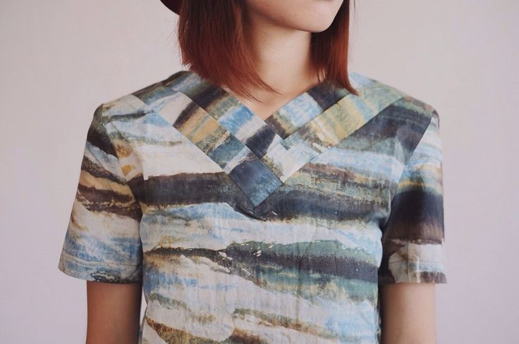 Camouflage Pleated Top by IMAJI Studio