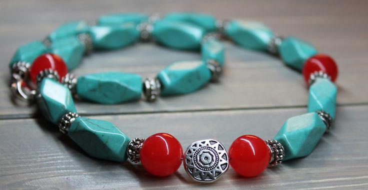 Halskette Türkis  & Achat von Prilapri auf DaWanda.com