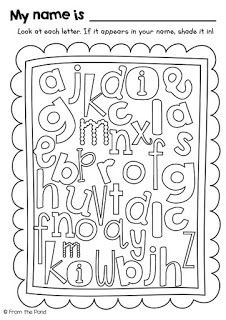 Letter search name hunt. Color the letters in your name FREEBIE.