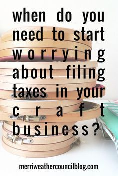 Selling Crafts And Paying Tax