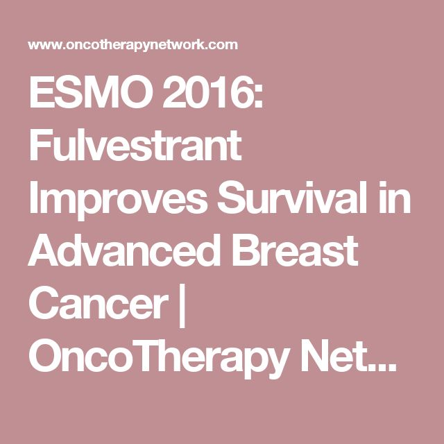 ESMO 2016: Fulvestrant Improves Survival in Advanced Breast Cancer | OncoTherapy Network
