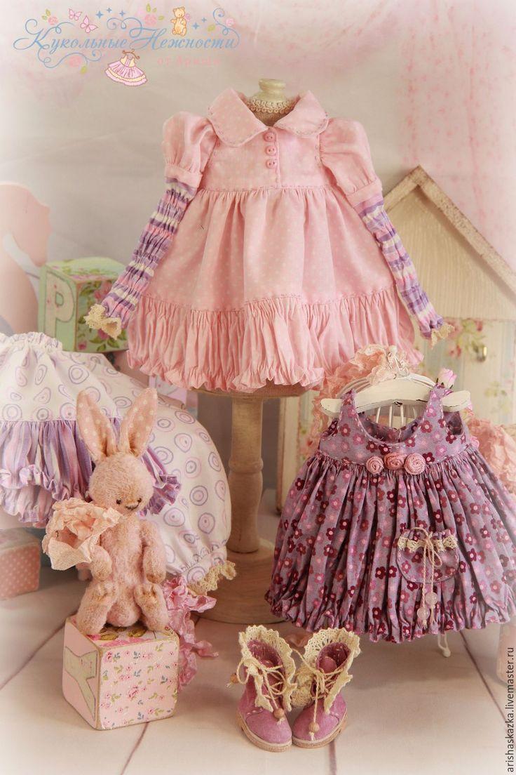 """Купить Комплект для куклы  """" Черничный йогурт """" - платье для куклы, обувь для куклы"""