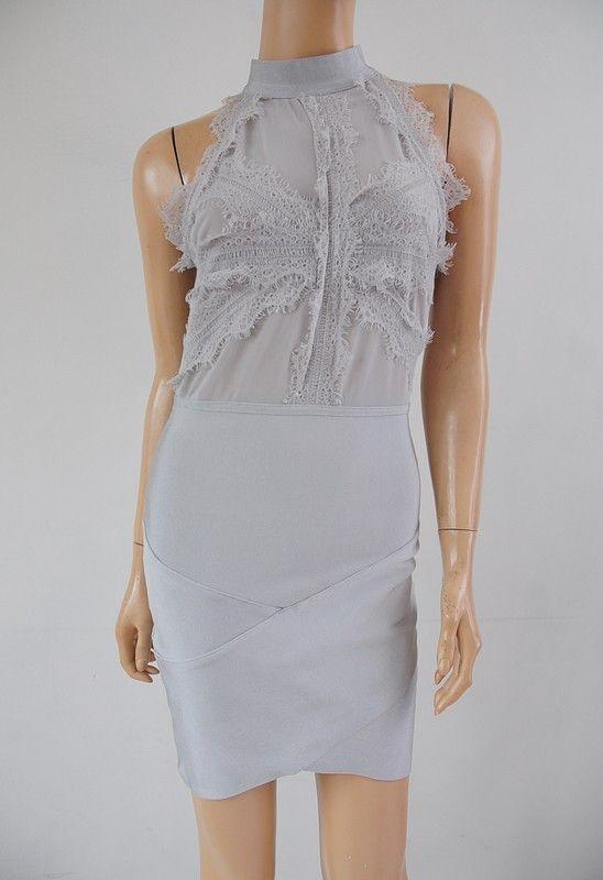 9ed2c11a4c Sukienka szara dopasowana z koronką r. 38 - Vinted