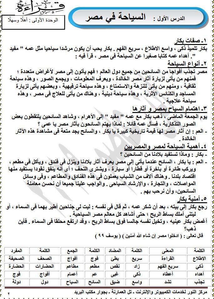 مذكرة لغة عربية للصف الرابع الابتدائى الترم الأول Sheet Music Exam Music