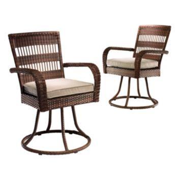 SONOMA Outdoors Presidio 2 Pc. Swivel Patio Dining Chair Set Kohlu0027s