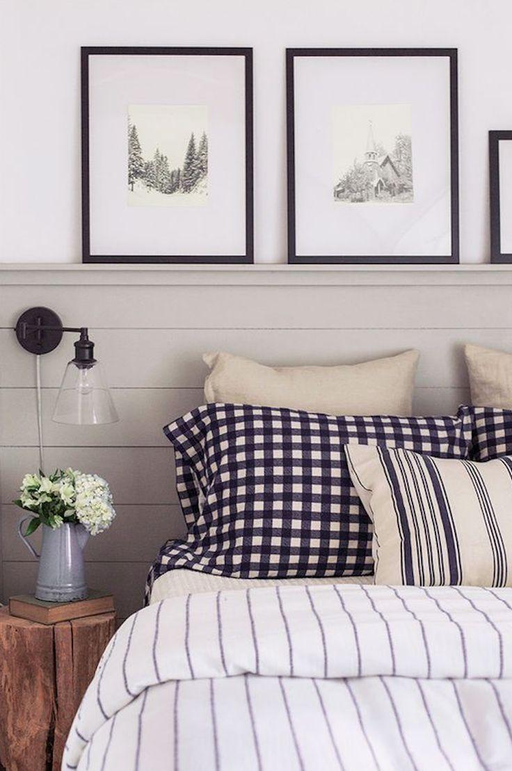 Shelf with frames, mix of pillows