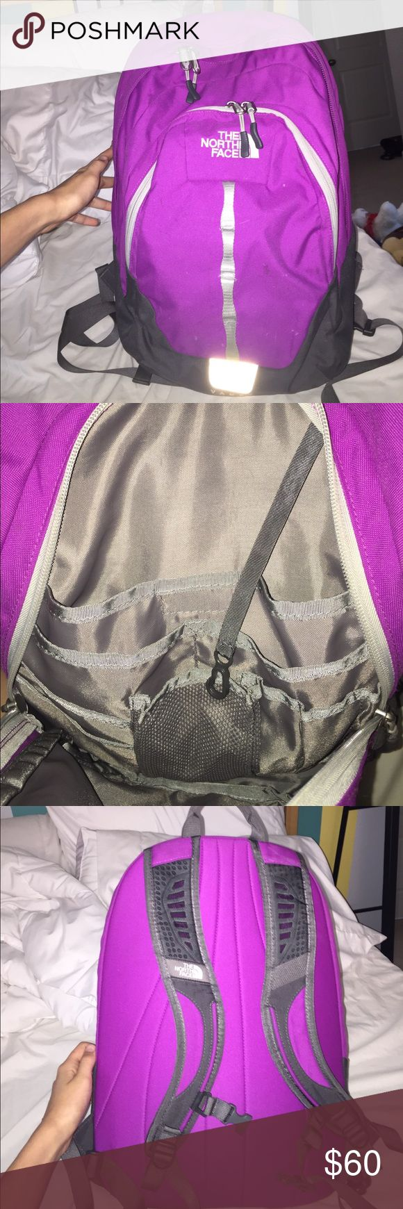 north face backpack Purple color, barely used, in amazing condition! Really need to get rid of this! Has a very cushioned back so great for a laptop and great on your back! Feel free to use the offer button The North Face Bags Backpacks