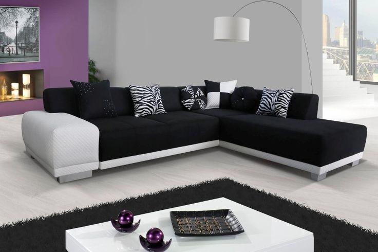 Rohová sedačka Rafael - ve stylu black&white!