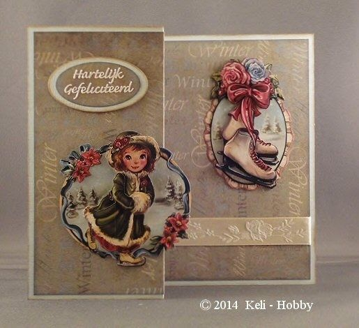 Winter-Papicolor 19 Lichtblauw  Amy Design Paper bloc Winter Collection  Distress inkt Vintage Photo en Weathered Wood  Satijnlint 15 mm. Rozen Créme  Knipvel Card Deco Amy Design CD10325  Sticker Hobbydots Hartelijk Gefeliciteerd Wit, bewerkt met Distress Inkt, goed laten drogen!