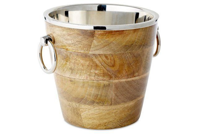 "9"" Metal Rimmed Ice Bucket"