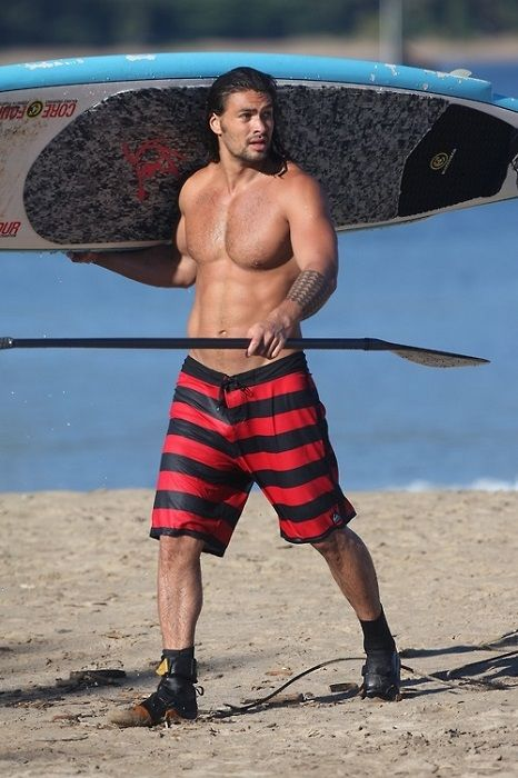 Jason Momoa shirtless