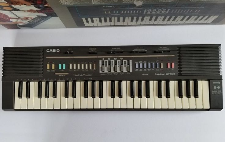 Vintage Casio Casiotone MT-205 Keyboard Circuit Bend 80's DP-1 Drum Pad Input #Casio