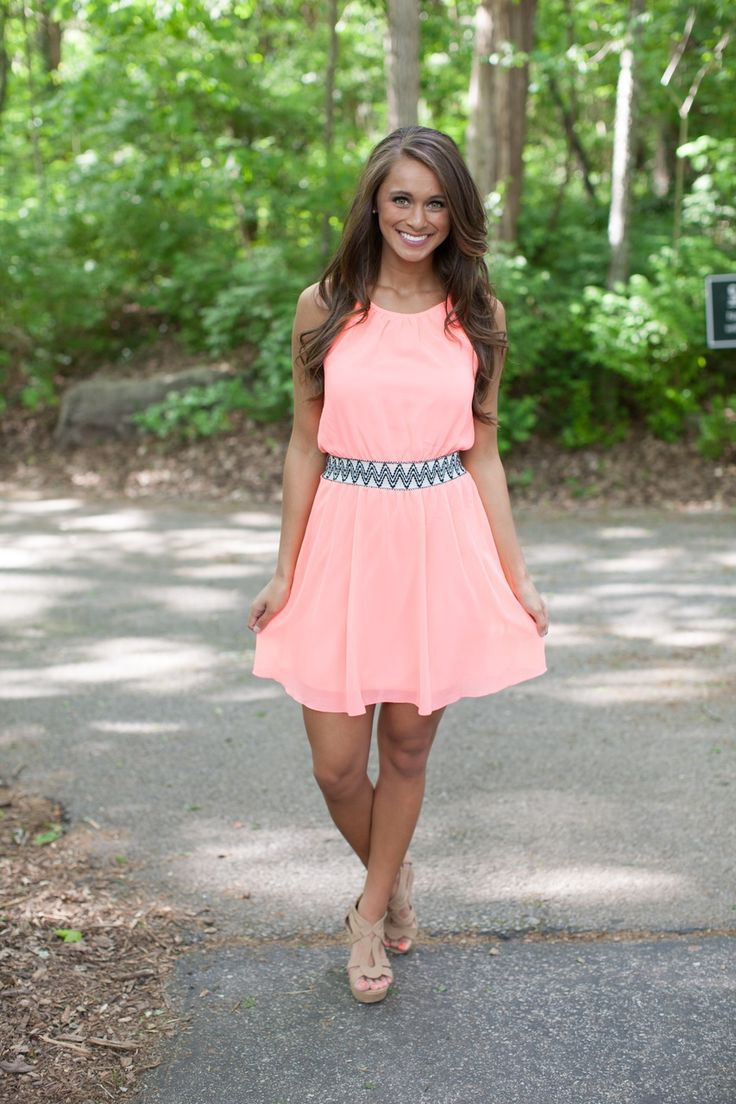 The Pink Lily Boutique - Can't Keep Up Neon Coral Dress, $39.00 (http://thepinklilyboutique.com/cant-keep-up-neon-coral-dress/)