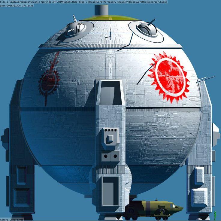 Broadsword-class Type C Mercenary Cruiser. 800 tom ...