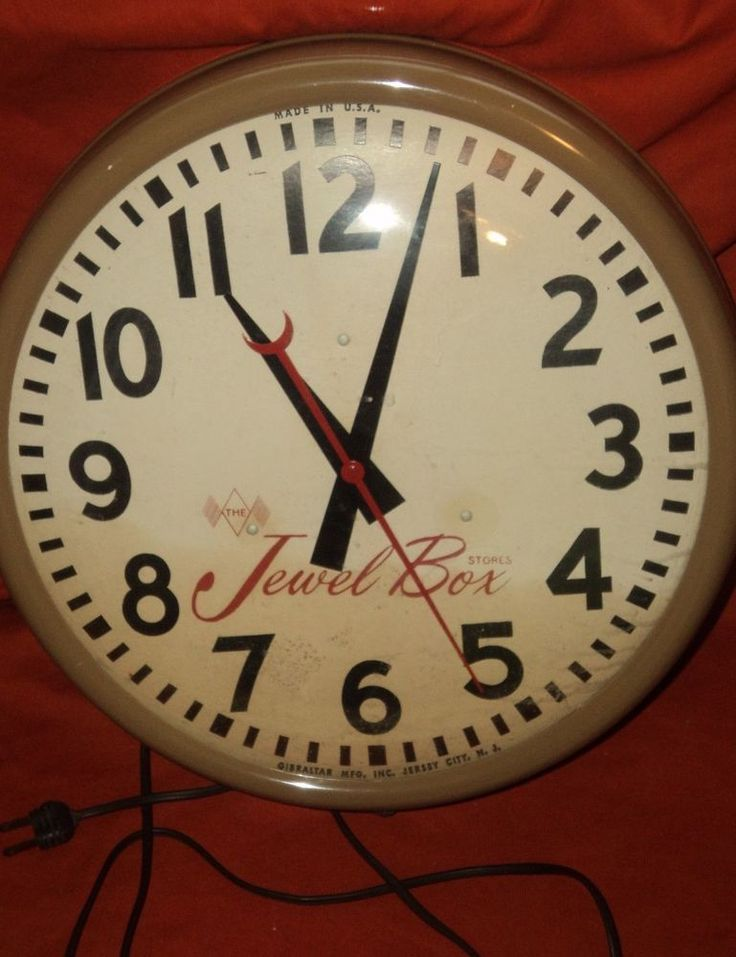 JEWEL BOX STORES CLOCK GIBRALTAR 1950'S NEW JERSEY CITY ...