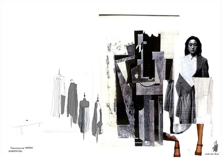 Fashion Portfolio - fashion design layout; fashion sketchbook; fashion collage illustration // Jaskiran Hare