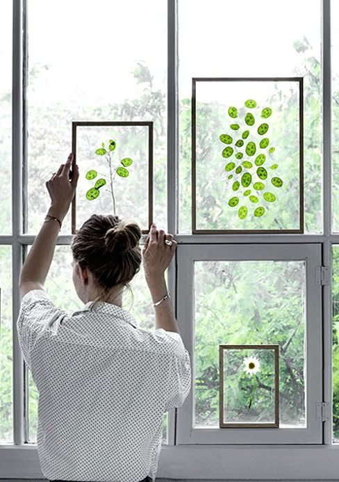 leaves and flowers in floating frames create the ideal diy gift idea
