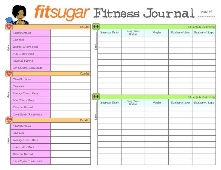Fitness Journal, Fitness Planner, Fitness