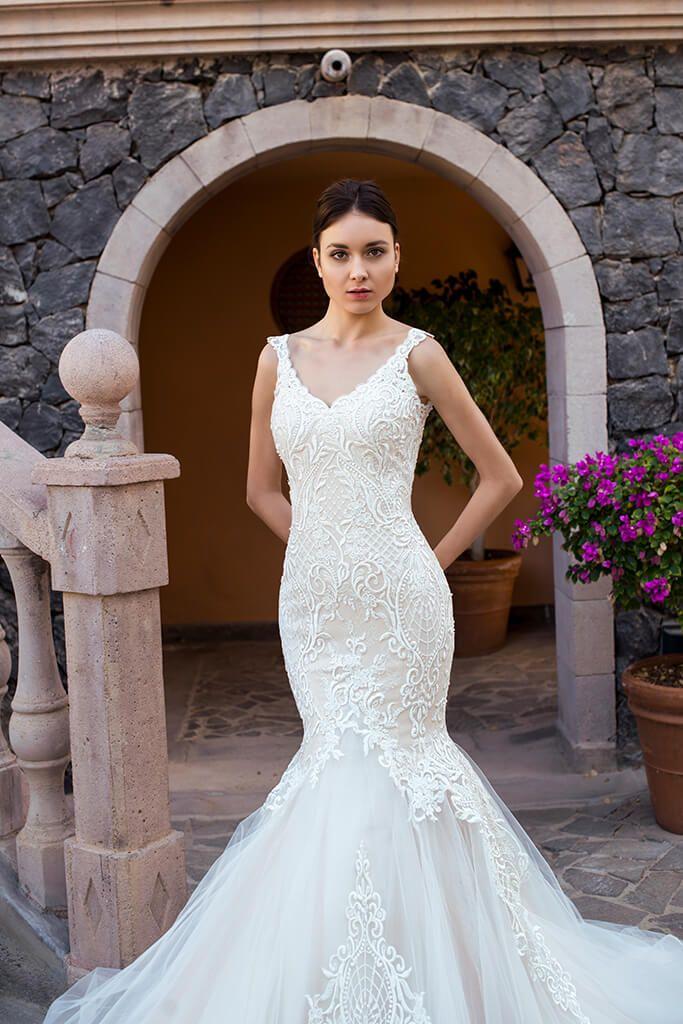 Wedding Dress By Oksana Mukha Dresses Wedding Dresses Mermaid Wedding Dress