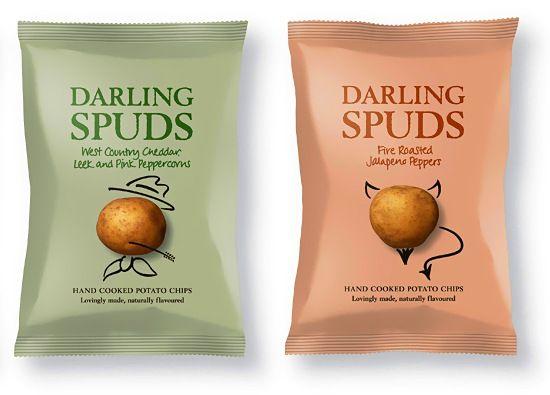 Darling Spuds - chips packaging