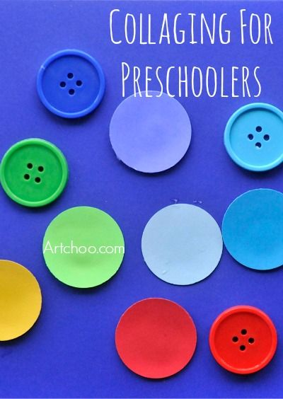 Easy collaging project for preschoolers- exploring color and composition.