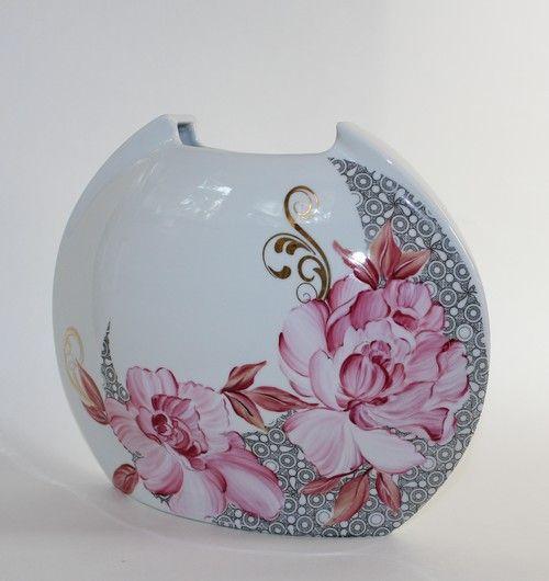 Les 25 meilleures id es concernant porcelaine peinte sur pinterest poterie - Peindre sur verre 100 modeles originaux ...